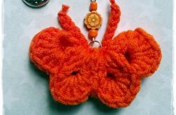 Breloczek motylek - pomarańczowy
