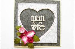 Kartka na ślub z sercem