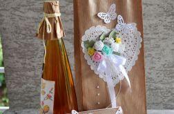 Kopertówka ślubna+ torebka na wino 4