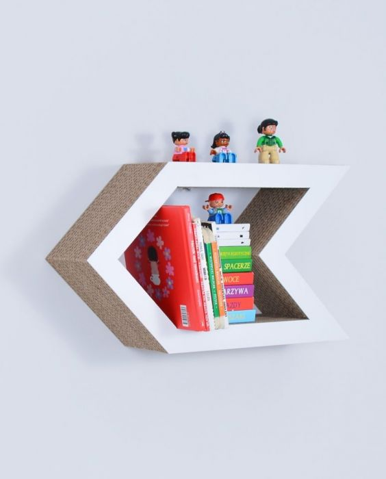 Półka na książki STRZAŁKA | biały