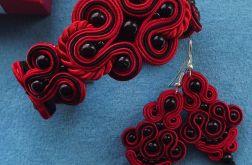 Czerwon0 czarny z charakterem- komplet sutasz