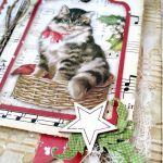 Kartka świąteczna z kotkiem