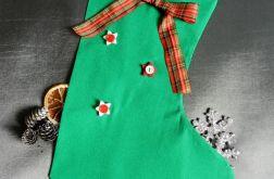 Skarpeta świąteczna zielona