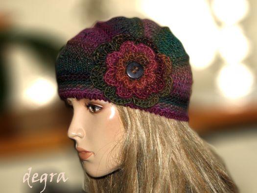 czapka Poppy- retro romantyczna 3