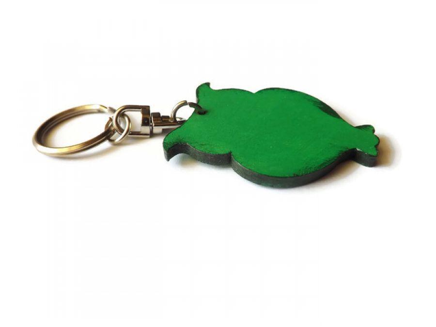 Breloczek Sowa Ażurowa - zieleń jasna