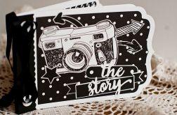 Mini album na zdjęcia - czarno-biały