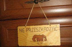 """Zabawna tabliczka na drzwi """"NIE PRZESZKADZAĆ"""""""