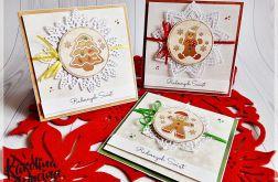 Wesołe kartki świąteczne z pierniczkami