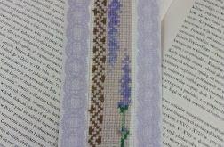 Zakładka do książki-bookmark- pachnąca lawendą