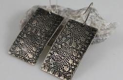 Koronki - metalowe kolczyki 140722-03