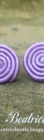 Mini kolczyki sutasz fioletowe