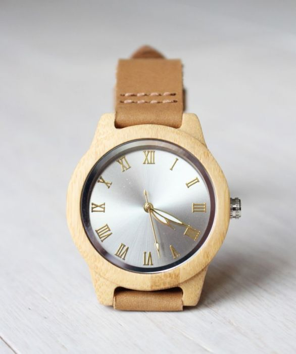 Drewniany damski zegarek SHINY BAMBOO