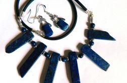Lapis lazuli, naszyjnik i kolczyki, zestaw