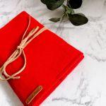 Filcowa okładka na książkę  A5 czerwona
