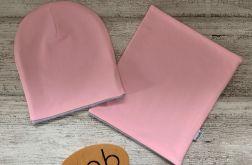 Komplet 44-52 cm dwustronny różowo-szary