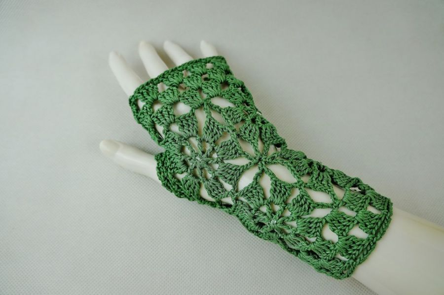 Rękawiczki, mitenki w zieleni