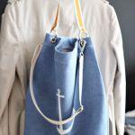 Dżinsowa torba z kotwicą