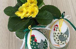 Pisanki kurki - zielona i żółta