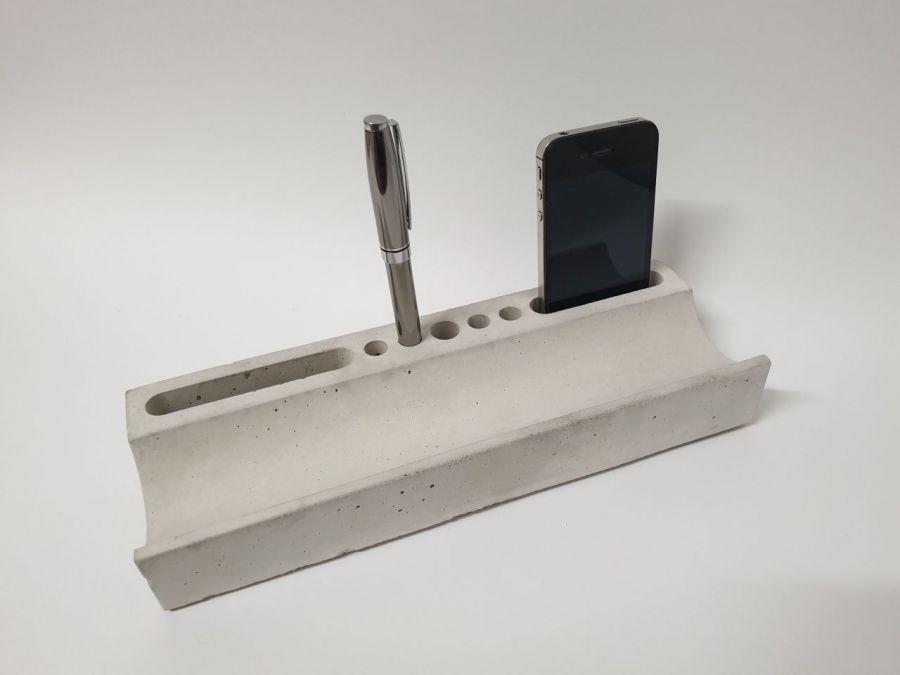 "Betonowy organizer na biurko - ""Order"" - Organizer betonowy 3"
