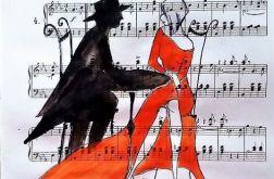 DZIEJE SIĘ MAGIA akwarela artystki A.Laube