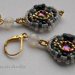 barokowe klimaty kolczyki z kryształkami