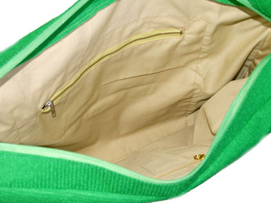 SWS TOREBKI Fajna duża torba damska na suwak - Torba wewnątrz - kieszeń większa na suwak