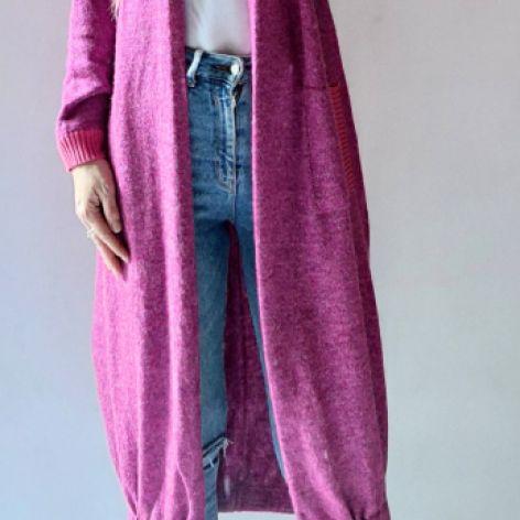 Bomberka długi sweter z kieszeniami