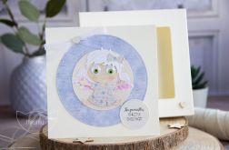 Kartka z Aniołkiem w pudełeczku (a02)