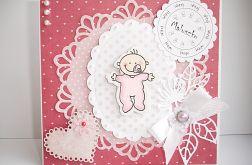 Witaj maluszku - kartka różowa
