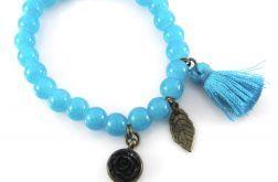 Niebieska bransoletka z chwostem