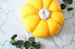 """Poduszka ozdobna """"Kwiat """" 35cm zółta"""