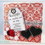Kartka na Walentynki z karnetem na upojną noc