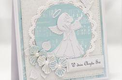Kartka z aniołkiem na chrzest KCH015