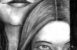 Siostry - oryginalny rysunek 9914