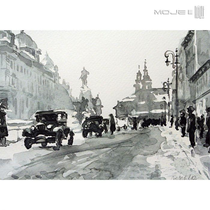 Plac Matejki 1933 - stary Kraków