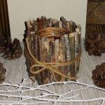 Świecznik z patyków - Świecznik z patyków naturalny