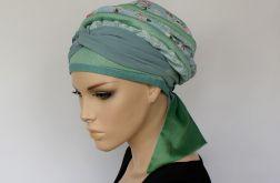 letni turban PASTELOWY