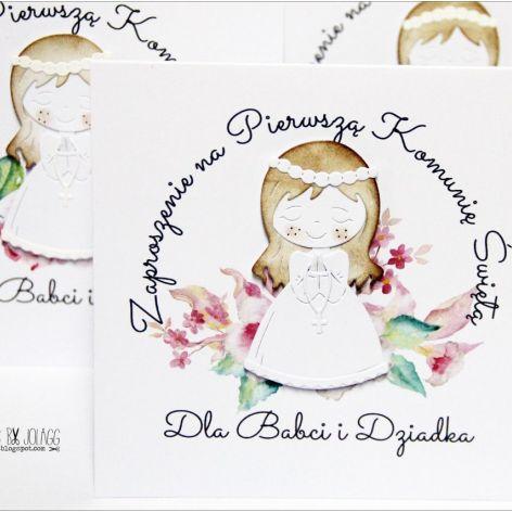 Zaproszenie Na Komunię Dla Babci I Dziadka Cardmaking By Jolagg