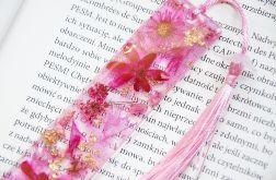 Zakładka do książki - rainbow róż