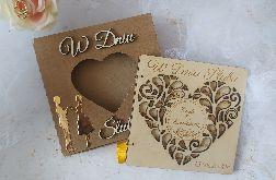 Pamiątka ślubu- kartka z życzeniami w pudełku