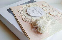 Kartka na chrzest pudełko pamiątka girl