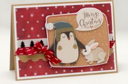 Wesoły pingwinek - świąteczna KBN1908