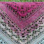 Cieniowana chusta - Pierwszy kolor