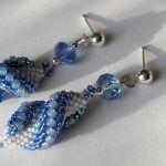 świderki niebiesko-białe