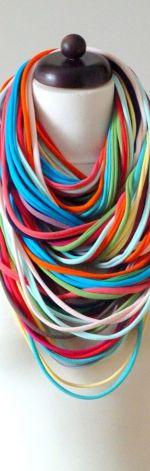 naszyjnik dzianinowy kolorowy 3