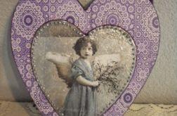 Anioł z jemiołą - zawieszka