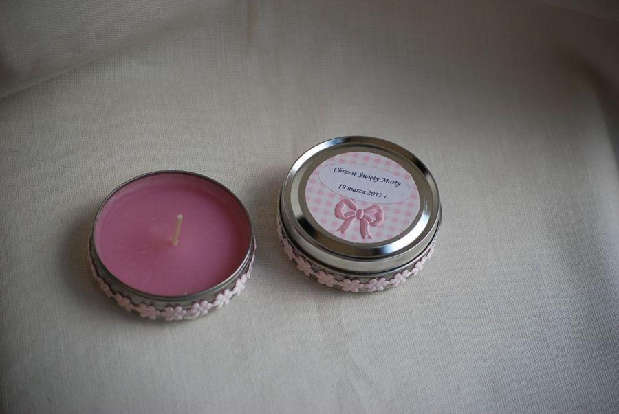 Prezenty dla gości na chrzest - mini świeczka