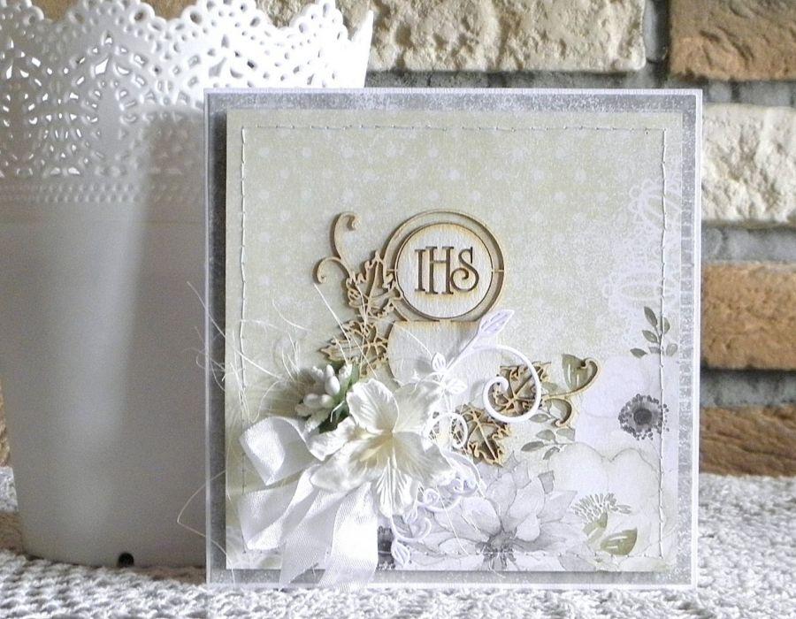 Komunia Święta- kartka z pudełkiem 01