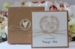 Stylowa kartka ślubna 16