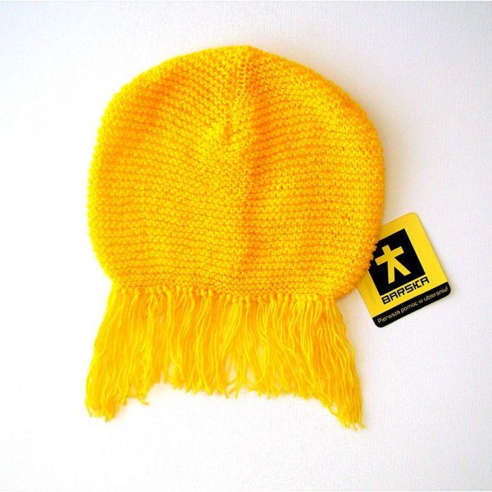 czapka z grzywką;) żółta